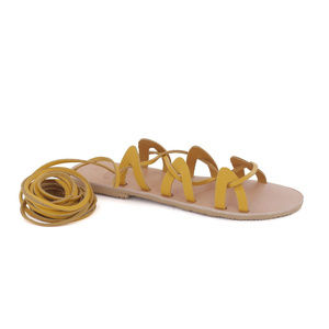 GREEK LEATHER SANDALS 'ANDROMEDA' Yellow